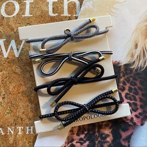 NWOT Anthropologie Hair Bow Ties Set